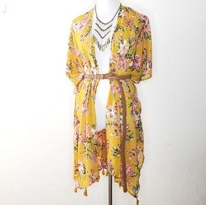 🚨 NWT Ultra Pink BOHO Chic Kimono